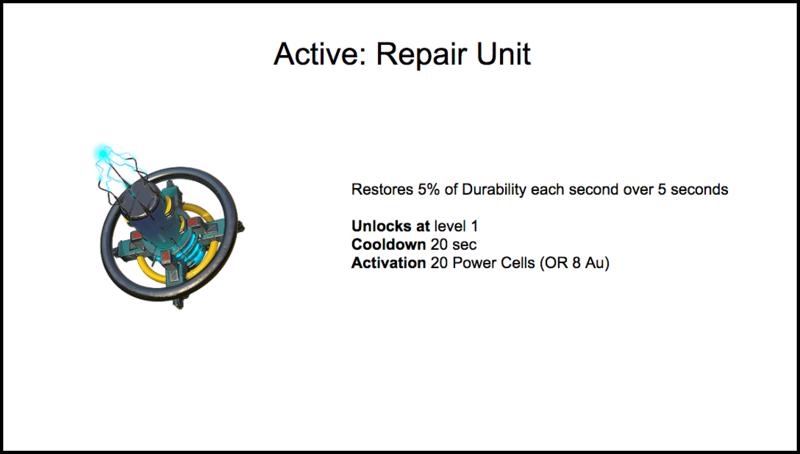 Repair Unit stats